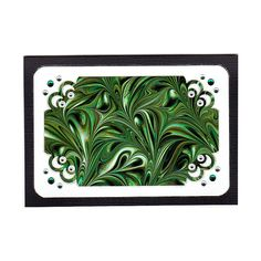 Marbled Card - Emerald Green Swirl Handmade Marbled Note Card by ModernMarblingDesign, $2.50 #marbled #marbling #card