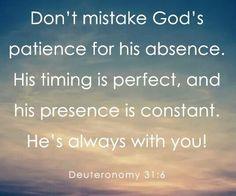 Dueteronomy 31:6
