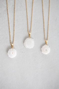 Ice Frost Druzy Necklace
