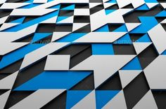 Abstract Futuristic Surface With Triangles. by valex113 Abstract 3d rendering of black, blue and white futuristic surface with triangles. Sci-fi background. Render in JPG format.