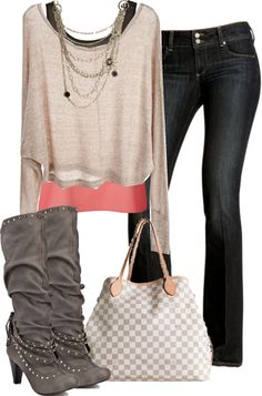 """Style This- Sapphire Boot"" by sjpayne on Polyvore"