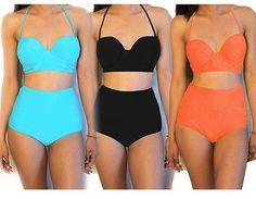 2017 New Summer Tankini Bandage Push-Up Padded Bikini Set Swimwear Women Beach Monokini Swimsuit High Waist Bathing suit