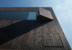 Black wooden Facade by David Adjaye