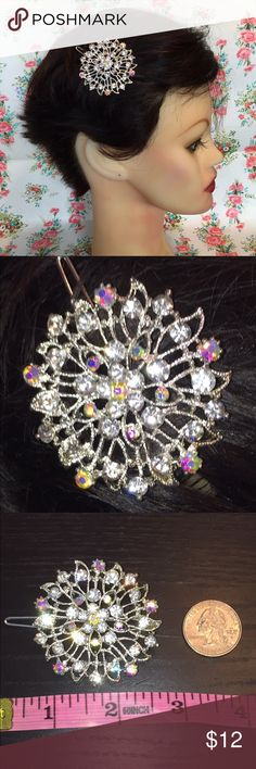 New crystal hair piece prom wedding Beautiful Circular silver with sparkling crystal  hair piece. Gorgeous statement piece prefect for any special occasion. Accessories Hair Accessories