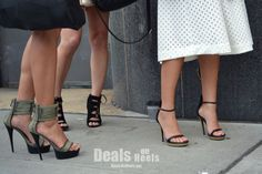 #NYFW Do you think these girl friends coordinated their shoes for the day?