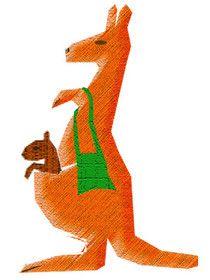 """""""... Kängurus tragen einen Beutel am Bauch ..."""" ~ Temu Diaab aus dem Kinderbuch 'Bunt, gleich und anders ... wie Du und ich' - ISBN Nr. 978-3-7386-0260-9 Illustration: Elisabeth Diaab  www.diaab.de"""