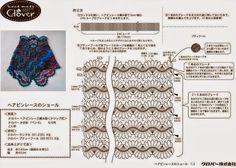Chal Crochet 4 colores para el verano - Patrones Crochet
