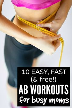 If you long for killer abs, but can't find the time (or energy!) to fit in an ab workout after your kids are in bed, this collection of 10 fast (and free!) ab workout routine ideas is JUST what you need!!!