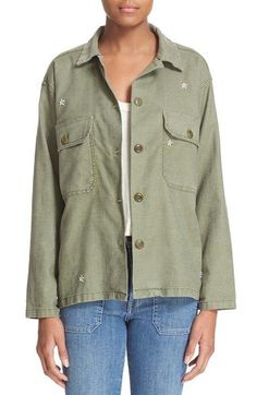 The Great 'The Army' Embroidered Shirt Jacket available at #Nordstrom