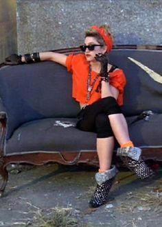 Madonnas boots