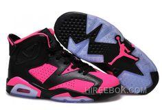 ae06179c6f4 Girls Air Jordan 6 Black Pink Shoes For Sale Top Deals BYZsYBD