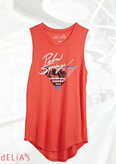 dELiA*s Juniors Palm Springs Muscle Tank