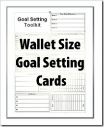 wallet sized goal card s