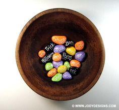 Decorative stones for Halloween