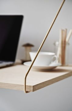 Photo: DK3 Royal System - a shelving system designed by Poul Cadovius in 1948. I love its simplicity and versatility, the wood, and the details such as the brass hangers. Oh, and my love for wood is w