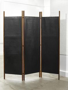 Danish Modern Brazilian Rosewood and Leather Folding screen, designed circa 1955