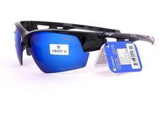 6cc341a80c0ae5 LUNETTES DE SOLEIL POLARISANTES POLARISEES SPORT VÉLO VTT HOMME FEMME  VERTEX 5028PVX (monture noire verres revo bleu)