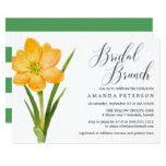 Trendy Flower YELLOW CROCUS  wedding Bridal Brunch Card