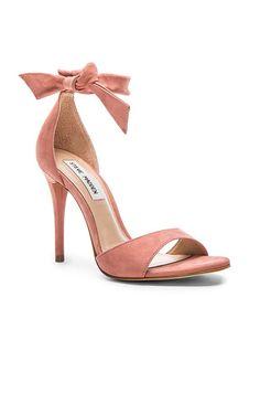 Steve Madden Bowwtye Heel in Pink Nubuck | REVOLVE