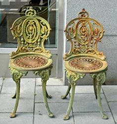 cast-iron chairs