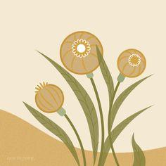 Floral illustration, digital design style by Case IN Point Design Studio. #digitalart #illustratedfloral #floralart #floraldesign #poppies #adobe illustrator