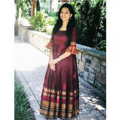 Colored Blus South Indian Wedding Gown is part of Kalamkari dresses - Buy Online Colored Blus South Indian Wedding Gown From Mongoosekart com Saree Gown, Sari Dress, Anarkali Dress, Anarkali Suits, Lehenga, Sarees, Kalamkari Dresses, Ikkat Dresses, Indian Wedding Gowns