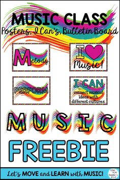 Elementary music teachers need resources for multiple grades, and that can be a challenge. Whether a new teacher or returning teacher, I hope you'll discover some ways to prepare and build your elementary general music classroom essentials resources. Music Classroom Posters, General Music Classroom, Future Classroom, Classroom Decor, Singing Lessons, Music Lessons, Singing Tips, Learn Singing, Music Education Activities