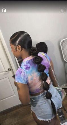Long Ponytail Hairstyles, Hair Ponytail Styles, Black Girl Braided Hairstyles, Sleek Hairstyles, African Braids Hairstyles, Baddie Hairstyles, Black Women Hairstyles, Weave Hairstyles, Summer Hairstyles