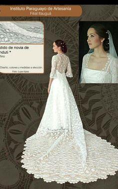 Vestido de novia en ñandutí