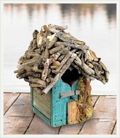 Driftwood Birdhouse, so cute for an outside tree in the back yar or even just decoration around the house!