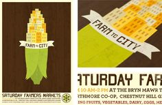 FARM TO CITY—Alex Bloom (part 1)  Identity, poster, and brochure for a coalition of Southeastern Pennsylvania farmers' markets, csa's and buying clubs. The organization provides the greater Philadelphia area with locally produced organic foods