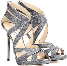 Jimmy Choo Collar Glitter Sandals