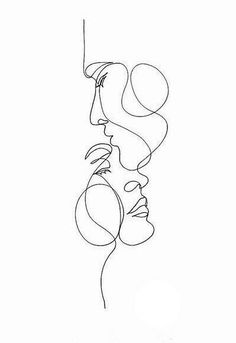 Single line face illustration wall art, modern and minimal artwork, black line drawing, face figure sketch print. Drawing Sketches, Art Drawings, Tattoo Sketches, Skull Tatto, Minimal Art, Art Minimaliste, Line Art Tattoos, Tatoos, Tattoo Fonts