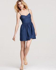 Free People Bustier Dress - Denim | Bloomingdale's
