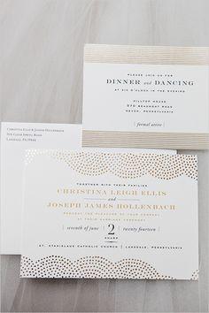 gold foil pattern | wedding stationery | white and gold wedding | #weddingchicks