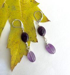 Amethyst Earrings, Purple Earrings, Lever Back Earrings, Dainty Earrings,  Sterling Silver, Christmas Gift, Gift for Her, Light Earrings https://www.etsy.com/listing/553909792/amethyst-earrings-purple-earrings-lever?utm_campaign=crowdfire&utm_content=crowdfire&utm_medium=social&utm_source=pinterest