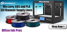 3D Printers | 3D Printing. #3DPrinters We carry ABS and PLA 3D Filament Supply Lines for 3D printers www.officeinkpros... 877-920-0922 #ABS #PLA #3D #3-D #FILAMENT #PLA175B1 #PLA175G1 #PLA175R1 #PLA175U1 #PLA175W1 #PLA175Y1 #ABS175B1 #ABS175G1 #ABS175R1 #ABS175U1 #ABS175W1 #ABS175Y1