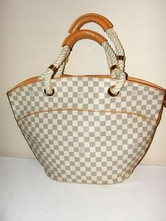 0bc8b0f6c10f Louis Vuitton Ponpuron Damier Azur Tote Bag. Get one of the hottest styles  of the
