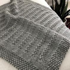 Stones in the Road chunky blanket knitting pattern by Fifty Four Ten Studio. Fun to knit with super bulky yarn. Instructions for 6 blanket sizes: baby blanket up to XXL afghan. Knitting Terms, Knitting For Charity, Circular Knitting Needles, Knitting Stitches, Knitting Projects, Baby Knitting, Knitted Afghans, Knitted Blankets, The Road