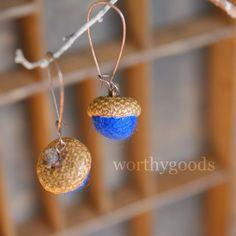 Mini Acorn Earrings