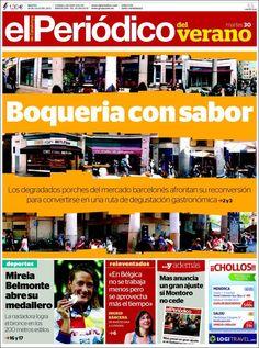 Los Titulares y Portadas de Noticias Destacadas Españolas del 30 de Julio de 2013 del Diario El Periódico ¿Que le pareció esta Portada de este Diario Español?