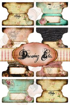 Hey, I found this really awesome Etsy listing at https://www.etsy.com/listing/157773557/vintage-love-story-digital-tabs
