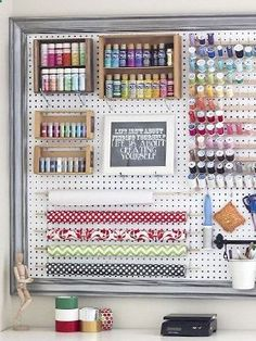 craft room peg board #homehack                                                                                                                                                                                 More