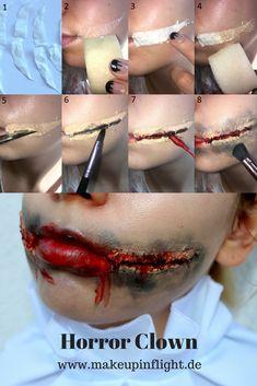 Halloween Horror Clown Tutorial (inspiriert durch Es Pennywise) | www.makeupinflight.de