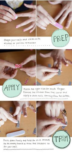 How to apply snazzy nail stickers! #diy