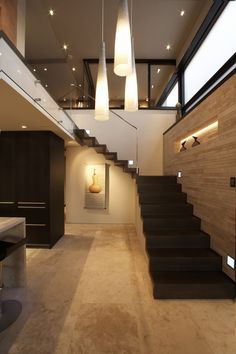 Contemporary Stairs, Lighting, Loft with Spectacular Views in Corona del Mar, California