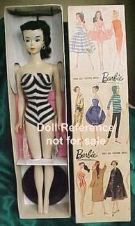 1960 Barbie model.  Mine was a little later model, but extremely similar, EXCEPT, mine had red hair!  OF COURSE!  ;)