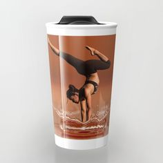 "Take your beverage to go with custom-designed Travel Mugs. Double-walled to keep hot drinks hot and cold drinks cold, with a press-in suction lid to minimize spills. They're the perfect coffee mugs for the people who are always on the move.     - 12oz capacity   - Premium ceramic construction   - Stands just over 6""    - Wraparound artwork   - Double-walled to keep drinks hot or cold   - Press-in suction lid minimizes leaks and spills"