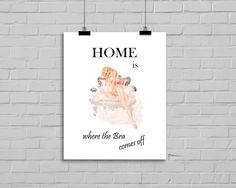 """""""Home is"""" Kunstdruck  von MilaLu auf DaWanda.com"""