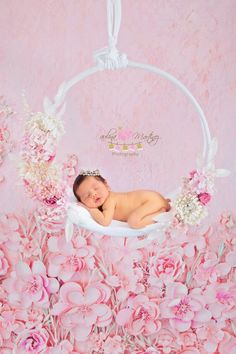 Baby Pink Ring Flower Photography Prop Newborn by PMPDreamCatchers